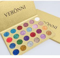 207wnm 24 Color Rojo Eyeshadow Sequin Glitter Net etapa maquillaje en polvo brillo nacarado Brillante Eyeshadow paleta tienen stock