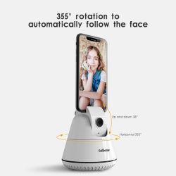 360 Automobil-Gesichts-intelligenter aufspürenhalter Selfie Stock, geeignet für Telefon-Tablette-Kamera-Montierung für Stativ-Standplatz für strömende lebhaftvideoHandy-Phasenzubehör
