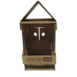 Estilo casa de madeira de decoração caixa de embalagem