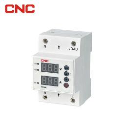 Ajuste o controle do relé de tensão ao abrigo do protector de tensão de 220V 63A 40A picos de tensão e os dispositivos de proteção de sobrecorrente calha DIN