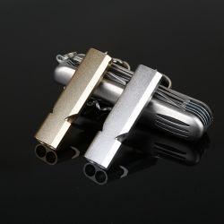 De Fluitjes van de Overleving van de dubbel-Buis van de Fluitjes van de Noodsituatie van het aluminium met de Zeer belangrijke Ketting van het Messing