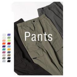 Nueva moda Logotipo personalizado 100% algodón ropa pantalones pantalones hombres carga