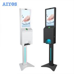 """Original Factory 21,5"""" Touch-Free Hand Wash Station Werbung Bildschirm mit Infrarot-Körpertemperatur-Scan"""