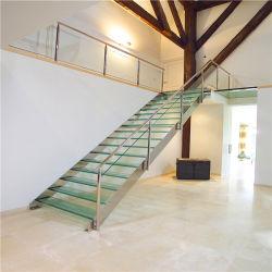 Nuevos productos calientes pegatinas decoración Escaleras Escaleras de madera Escalera de peldaños de escalera de hierro en el interior