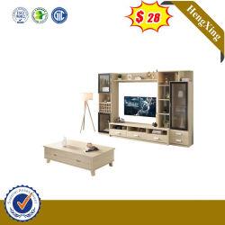 الطراز الجديد خزائن تلفزيون عصرية ذات طلاء أسود لامع عالي مثبتة على الحائط مع حامل تلفزيون Showcase من خشب الرقائقي (UL-9BE285)