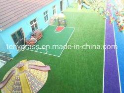 عشب صناعي مع دعم الشبكة وجودة عالية طلاء SBR Latex لللحن الطبيعية الصناعية
