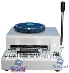 Carte de plastique tiret Machine (#MC-2100X)