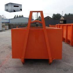 10 le mètre cube Hook Bin / roll off Conteneur pour le transport des déchets de construction