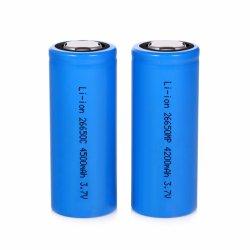 OEM fabricante 26650 cilíndrico cilíndrico de iones de litio recargable de 3,7V 4500mAh Batería batería recargable 26650