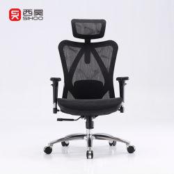 Cinese moderno Swivel confortevole Sihoo M57 Luxury High Back ergonomico Sedia da ufficio mesh Executive con bracciolo PU Blue computer
