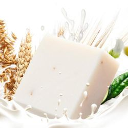 Blanquear la piel de etiqueta privada de un Rayo iluminando la cara jabón Jabón de arroz con leche de limpieza profunda de jabón de cuidado de piel