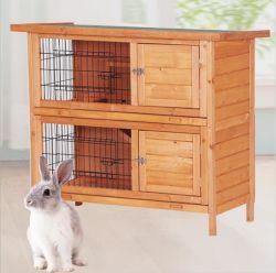新しい中国の取り外し可能な二重層の純木のウサギのケージ中小ペットケージの家禽育成の家