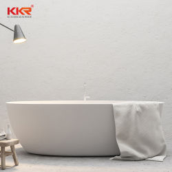 별 호텔 백색 Corian 아크릴 단단한 표면 적시는 욕조 독립 구조로 서있는 욕조를 위한 욕조