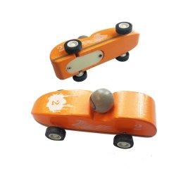 Fashion Cute Kids voiture en marche le tirer en arrière en bois camion jouet en bois avec la boîte de vitesses (W009)