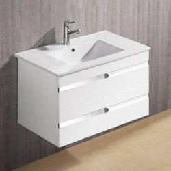 """30 """" Salle de bains Vanity Cabinet W/lavabo en céramique & tiroir blanc de conception moderne de nouvelles"""