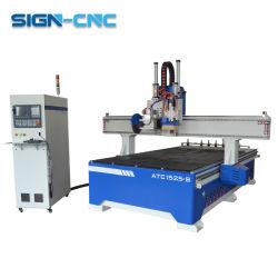 CNCのルーター1325木は販売については空気木CNCのルーターが付いている機械が二重ヘッド木工業を機械で造るのを見た