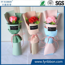 2019 Ventes chaud Polyester ruban de satin rose et de fleurs de ruban