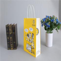 Cuatro de la bolsa de Kraft de impresión en color bolsa de regalo papel de la fábrica directa