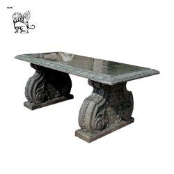 Jardin extérieur Salle à manger d'aménagement paysager marbre naturel en bancs de pierre de table