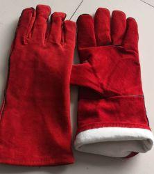 De antistatische Bestand Handschoenen Op hoge temperatuur van het Leer met Voering