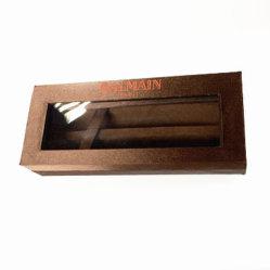 Casella impaccante designata piegante della penna con la finestra del PVC