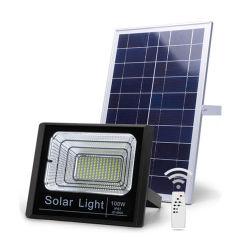 Lámpara LED de la seguridad exterior impermeable IP65 Modelo Jd Farol Solar de 100W con control remoto