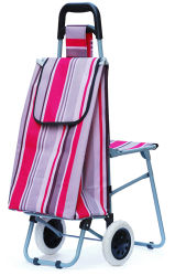 Trolley plegable Bolsa de compras con silla
