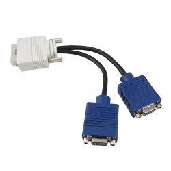 DMS59 aan de Dubbele 15pin VGA Y VideoKabel van de Splitser