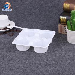 Supporto di tazza di carta di plastica a gettare del caffè di bianco pp