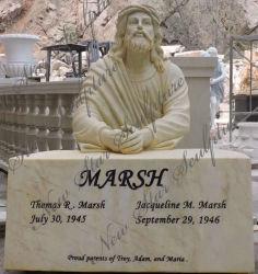 Sculpture sur pierre de couleur pour le Cimetière commémoratif antique