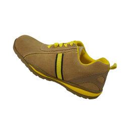 Cementado de alta calidad de los hombres/mujeres las obras de seguridad zapatos con suela de goma EVA/