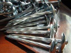 コンクリートまたは傘の屋根ふきの釘のための鋼鉄によって電流を通される構築ワイヤー釘
