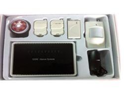 Alarme sans fil GSM-G10 6Zones wrieless & 4 zones de panneau d'alarme câblés