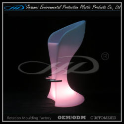 Moderna silla de plástico de la luz LED muebles con BV