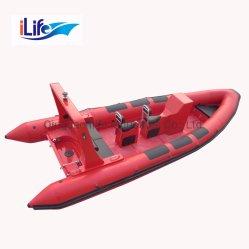 Ilife Tシリーズ堅い外皮のFirberglass作業膨脹可能な釣スポーツFRPの救助艇深いVの鋭いシャチ828/Redファブリック