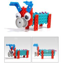 В 14885504-4 1 животных комплект измененных блоков образовательных DIY творческих игрушка блоки, 38ПК (Wolf - три мало свиней)