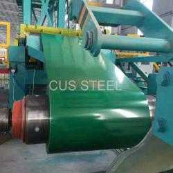 Prepainted revestimento de zinco em aço galvanizado o Rolo da bobina
