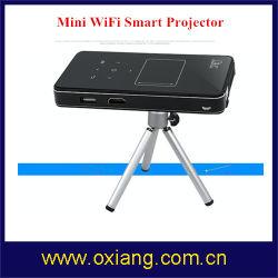 無線移動式スマートな人間の特徴をもつ小型プロジェクターHD 1080P USBビデオWiFiマイクロHD小型LEDのホームシアターDLP小型プロジェクター