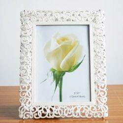 方法水晶白い結婚式のホーム装飾の写真フレーム