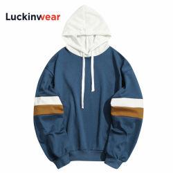 平行棒をステッチする2019のフード付きのワイシャツのスエットシャツのカスタムブランドの人の偶然のパッチワークはHoodieのジャケットを細くする