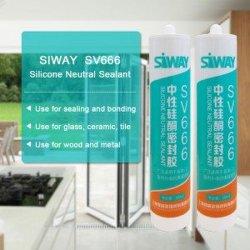 300ml vidrio neutro de Propósito General sellante de silicona para Metal adhesivo Neutral