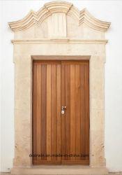 Conception américaine du bois de chêne rouge fixe de porte intérieure conçue Round-Top