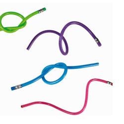 Colorido Superior Bonitinha Magic pepinos curvos macio alunos lápis flexível