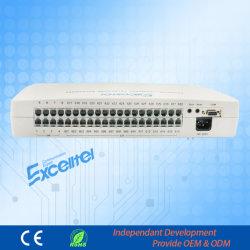 Troca de telefone expansível CP832 com PBX de gerenciamento de PC com sistema de intercomunicação de ID do chamador