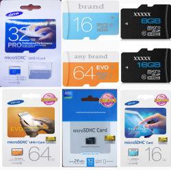 Venda por grosso de 8GB, 16GB, 32GB, 64GB, 128GB 256 GB Class 4 Class6 Class10 U1 Micro SD TF cartão CF Evo Plus U1 Cartão de memória para cartões SD vídeo de música