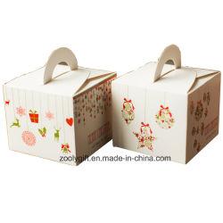 Het mini Vakje van de Gift van Cupcake van het Karton van het Document van de Druk van Kerstmis