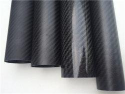 Tubo della fibra del carbonio, fibra personalizzata Palo del carbonio