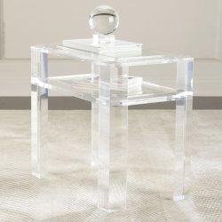 Custom minimaliste moderne blanc de pliage Fancy haute brillance extensible Table à café en acrylique de salle à manger en plexiglas