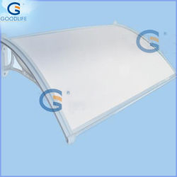 Standard PC Door Canopy with Aluminium or Alloy Plastic Bracket