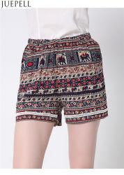 El verano europeo y americano de la mujer cintura elástica Lace Shorts Pantalones Playa yardas grandes pantalones sueltos Imprimir fábrica OEM